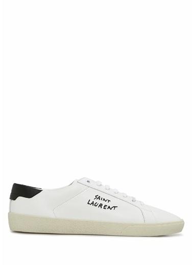 Saint Laurent Saint Laurent  Logolu Erkek Deri Sneaker 101622194 Siyah
